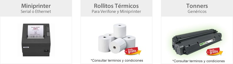 Miniprinters Rollitos Termicos y Tonners